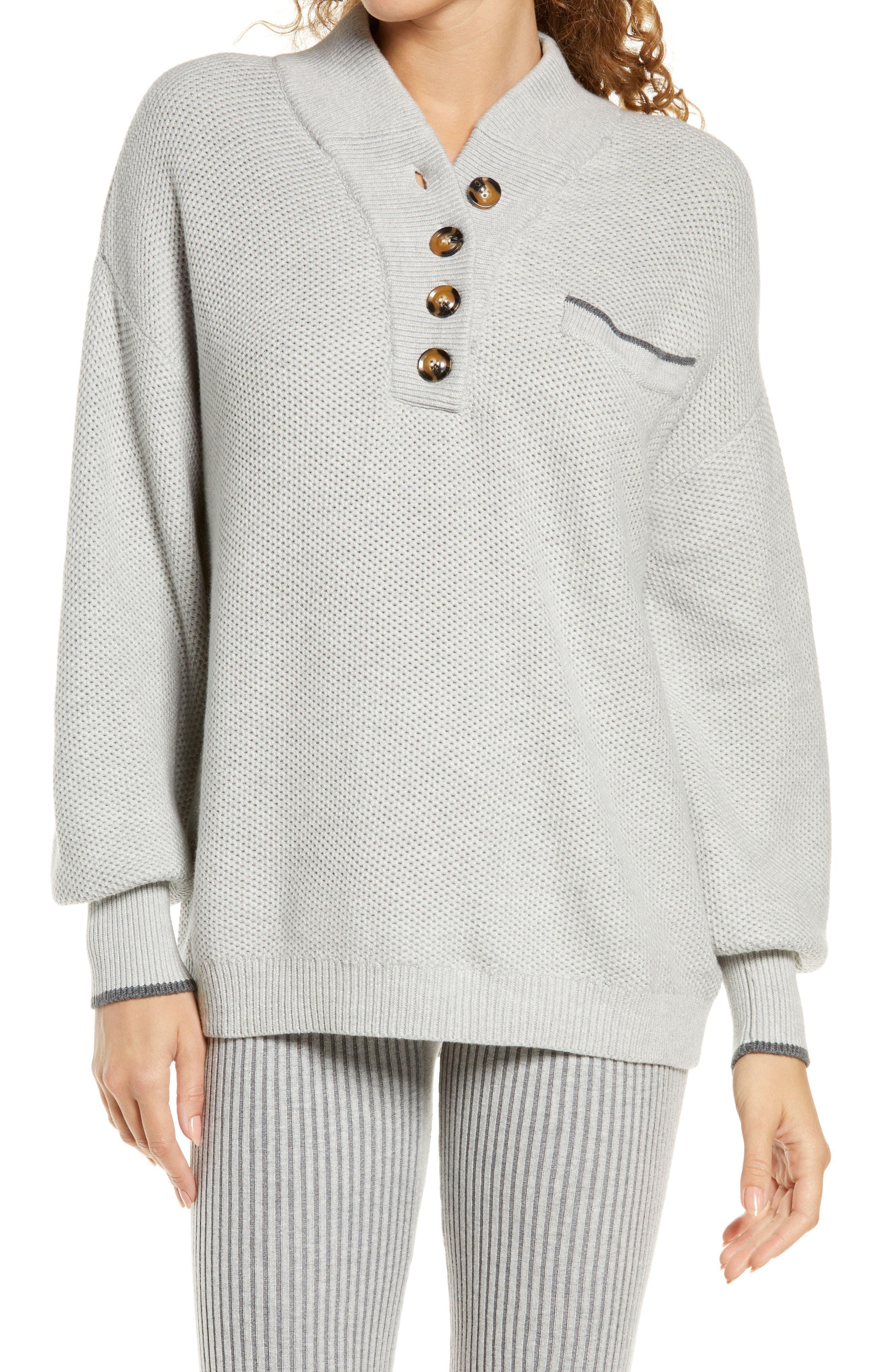 Cozy Rib Organic Cotton Henley Pullover