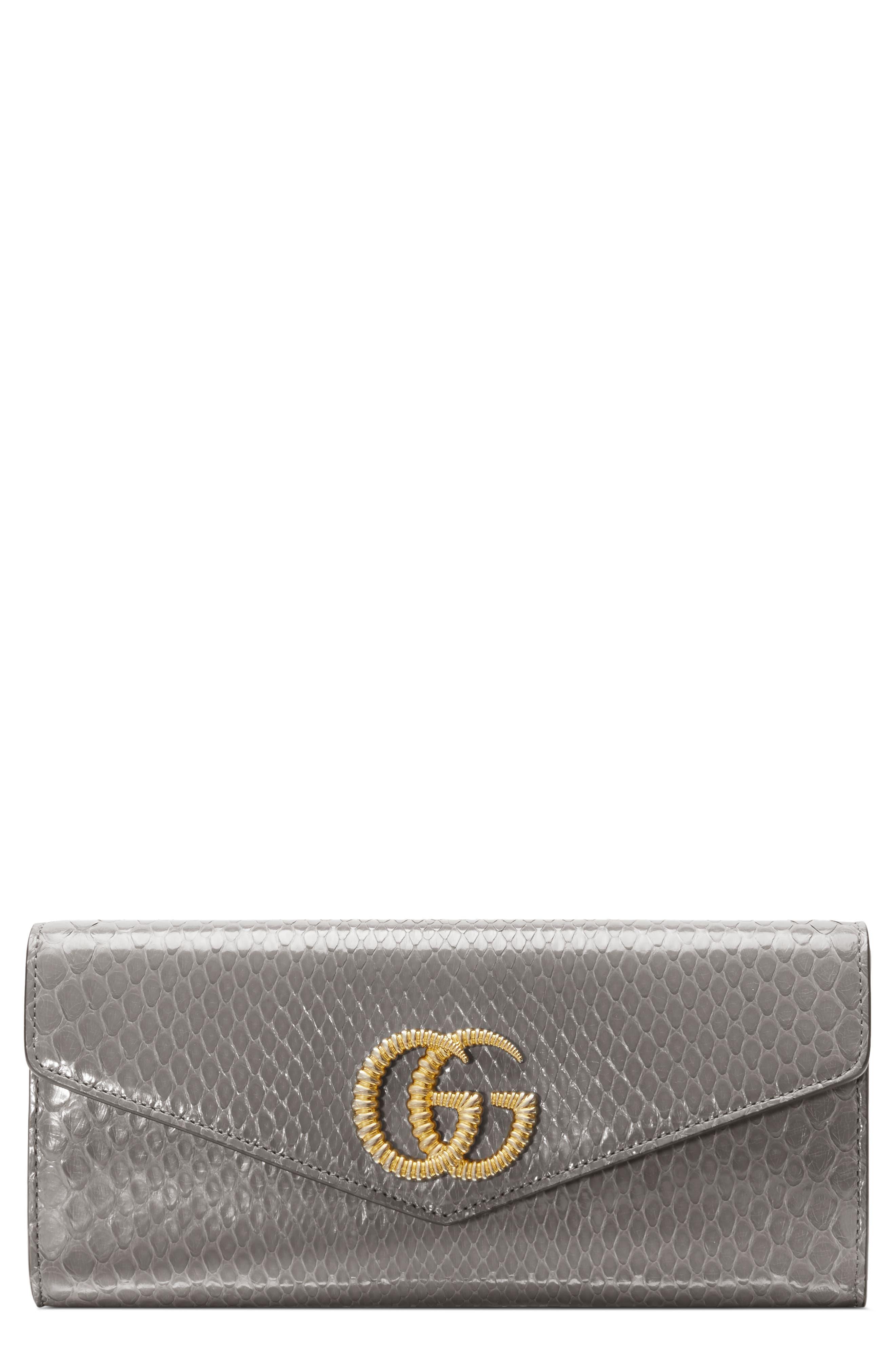 Gucci Clutch Broadway Genuine Snakeskin Evening Clutch