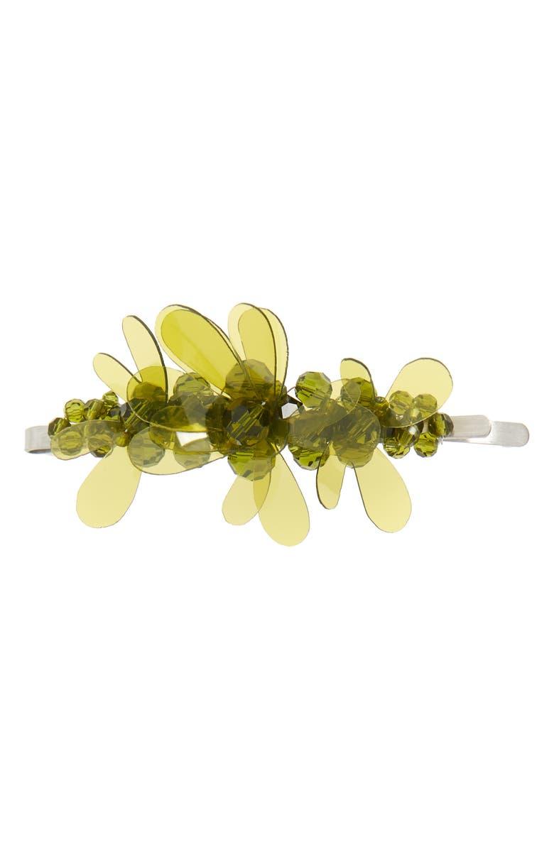 Beaded Jelly Flower Hair Clip by Simone Rocha