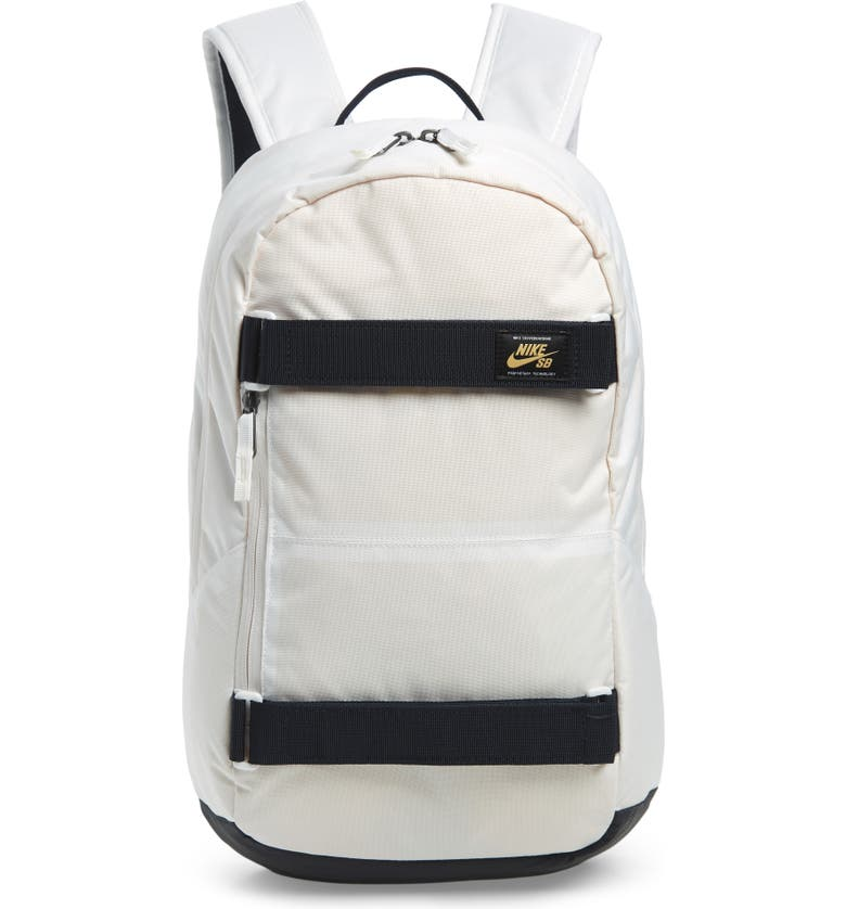 NIKE SB Courthouse Backpack, Main, color, SUMMIT WHITE/ CELESTIAL GOLD