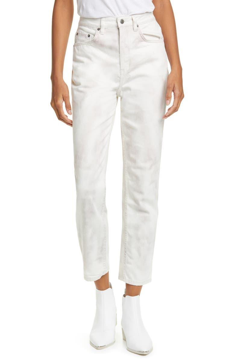 KSUBI Chlo Tie Dye High Waist Ankle Straight Leg Jeans, Main, color, 650