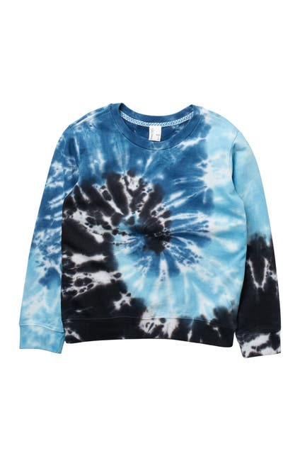 Image of Sovereign Code Tie Dye Crew Neck Knit Sweatshirt
