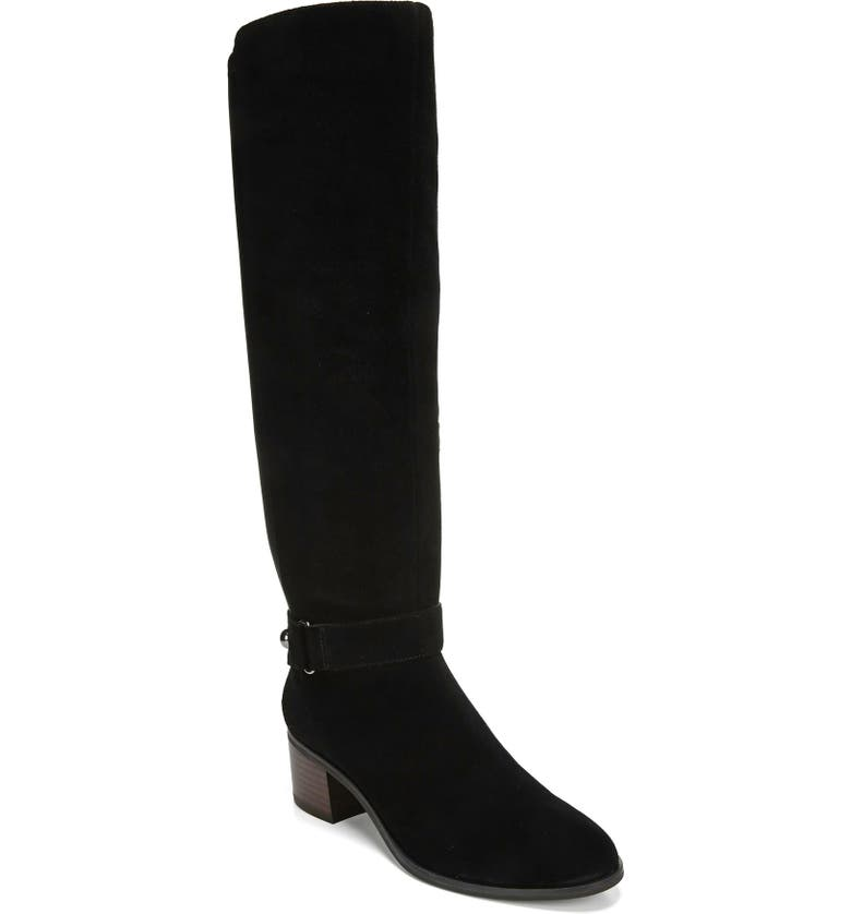 DR. SCHOLL'S Adriana Knee High Boot, Main, color, BLACK LEATHER AND FABRIC