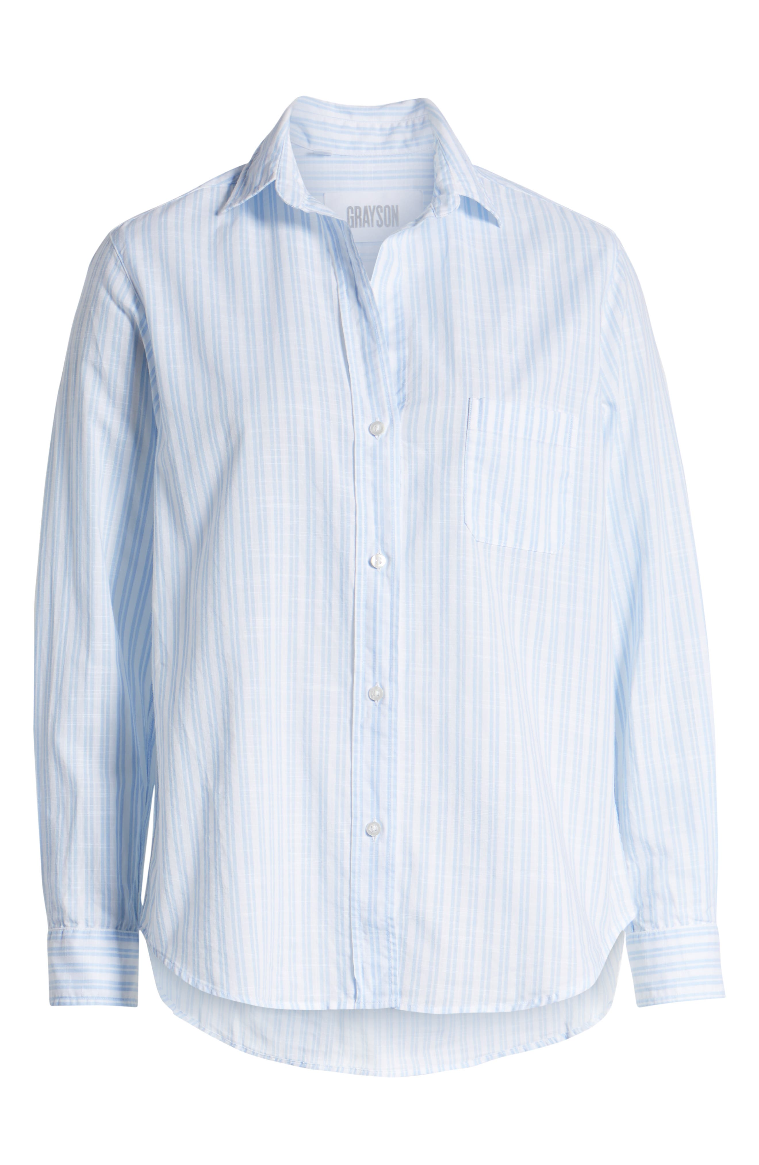 ,                             The Hero Washed Cotton Shirt,                             Alternate thumbnail 6, color,                             MARGARET BLUE STRIPE