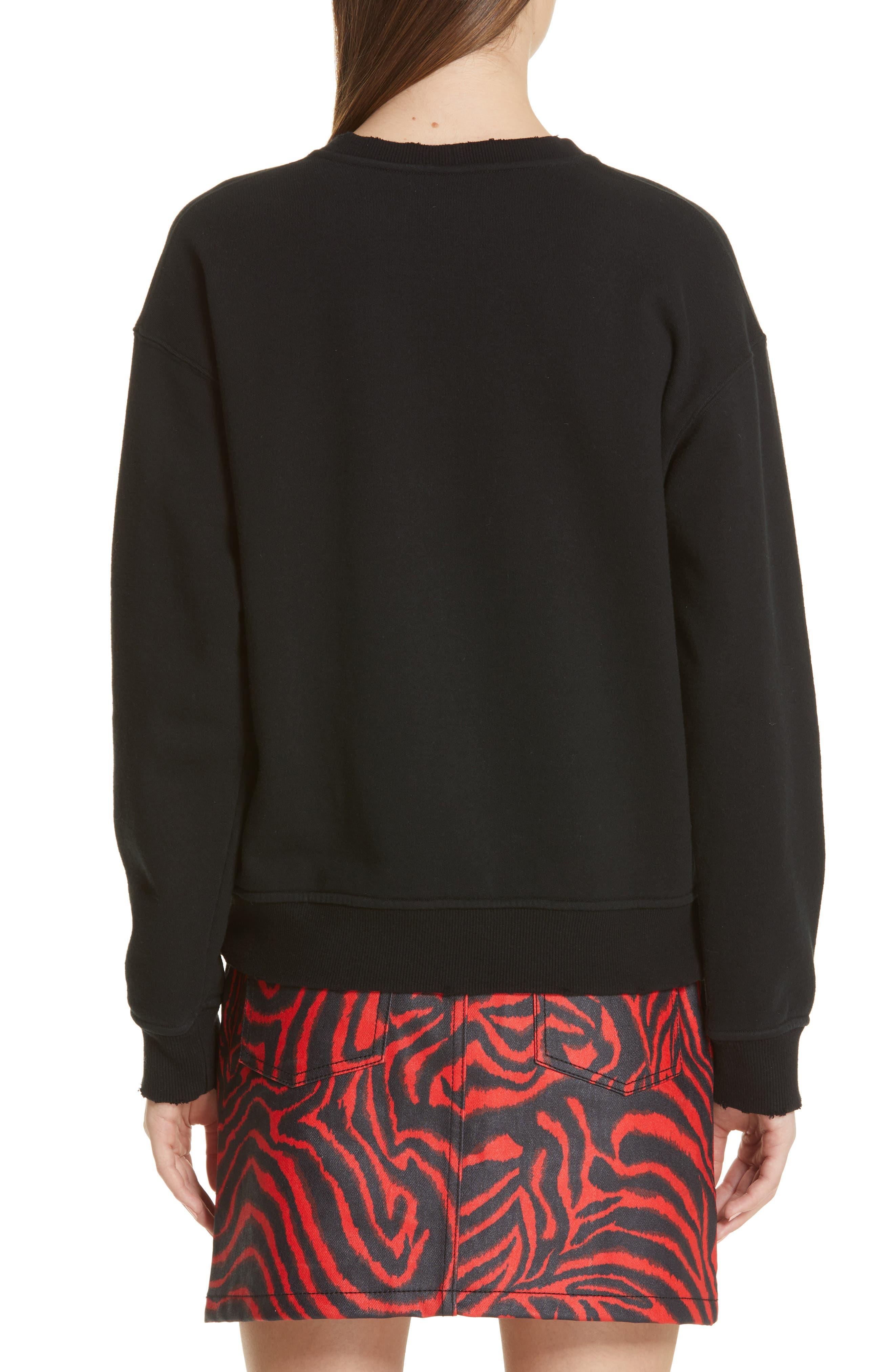 ,                             'Jaws' Graphic Sweatshirt,                             Alternate thumbnail 2, color,                             BLACK