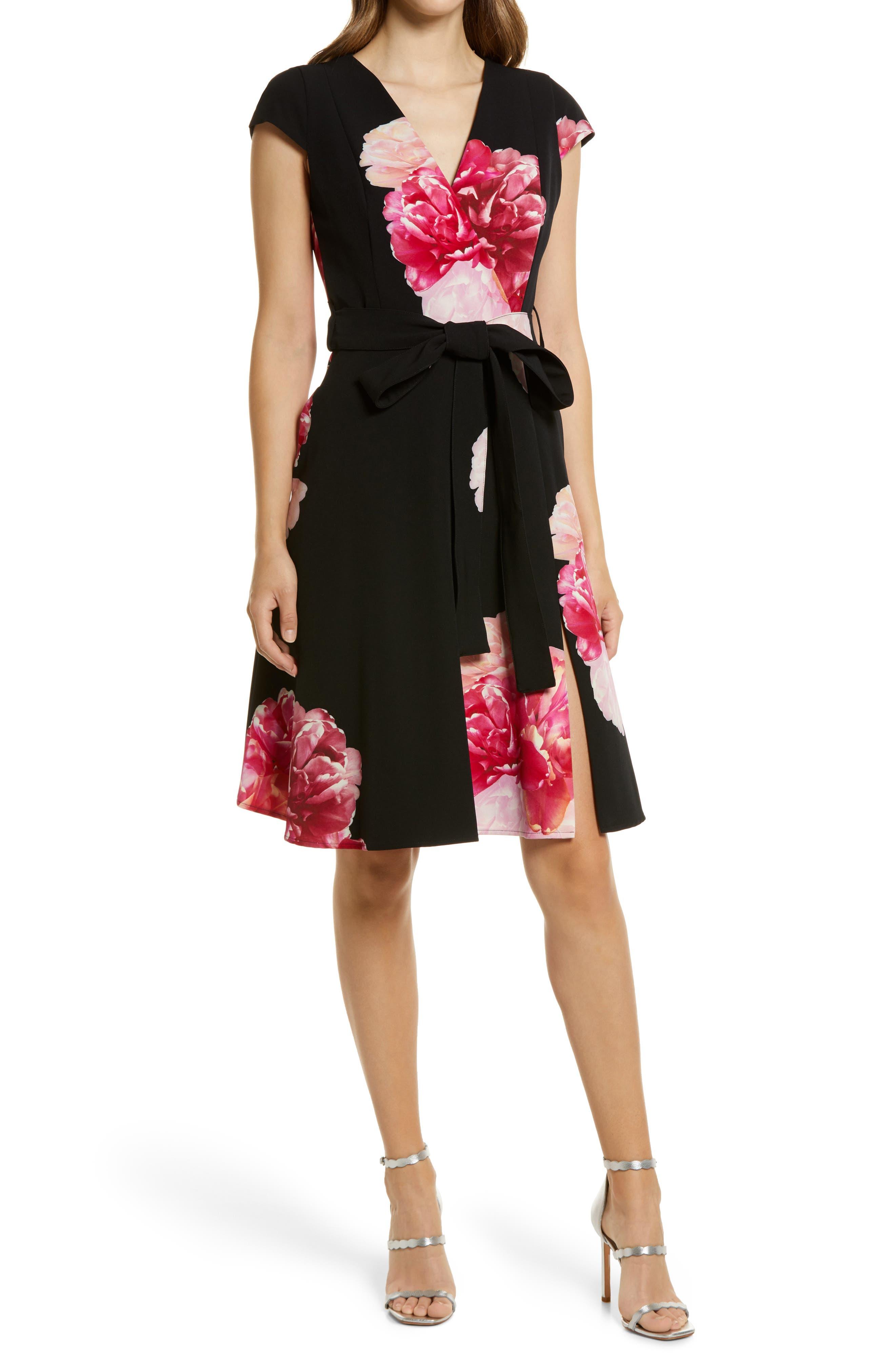 Pandora Bold Floral Print Dress
