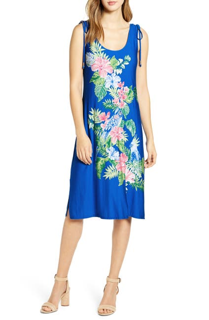 Image of Tommy Bahama Bahamian Rhapsody Tropical Print Midi Dress