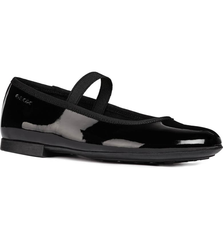 GEOX Plie 5 Mary Jane Ballet Flat, Main, color, BLACK
