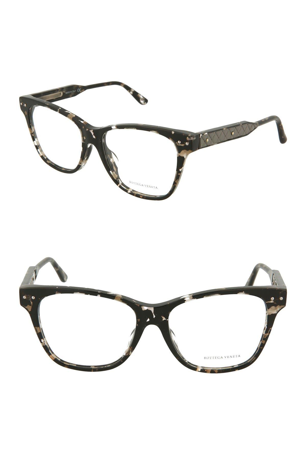 Image of Bottega Veneta 53mm Squared Cat Eye Frames