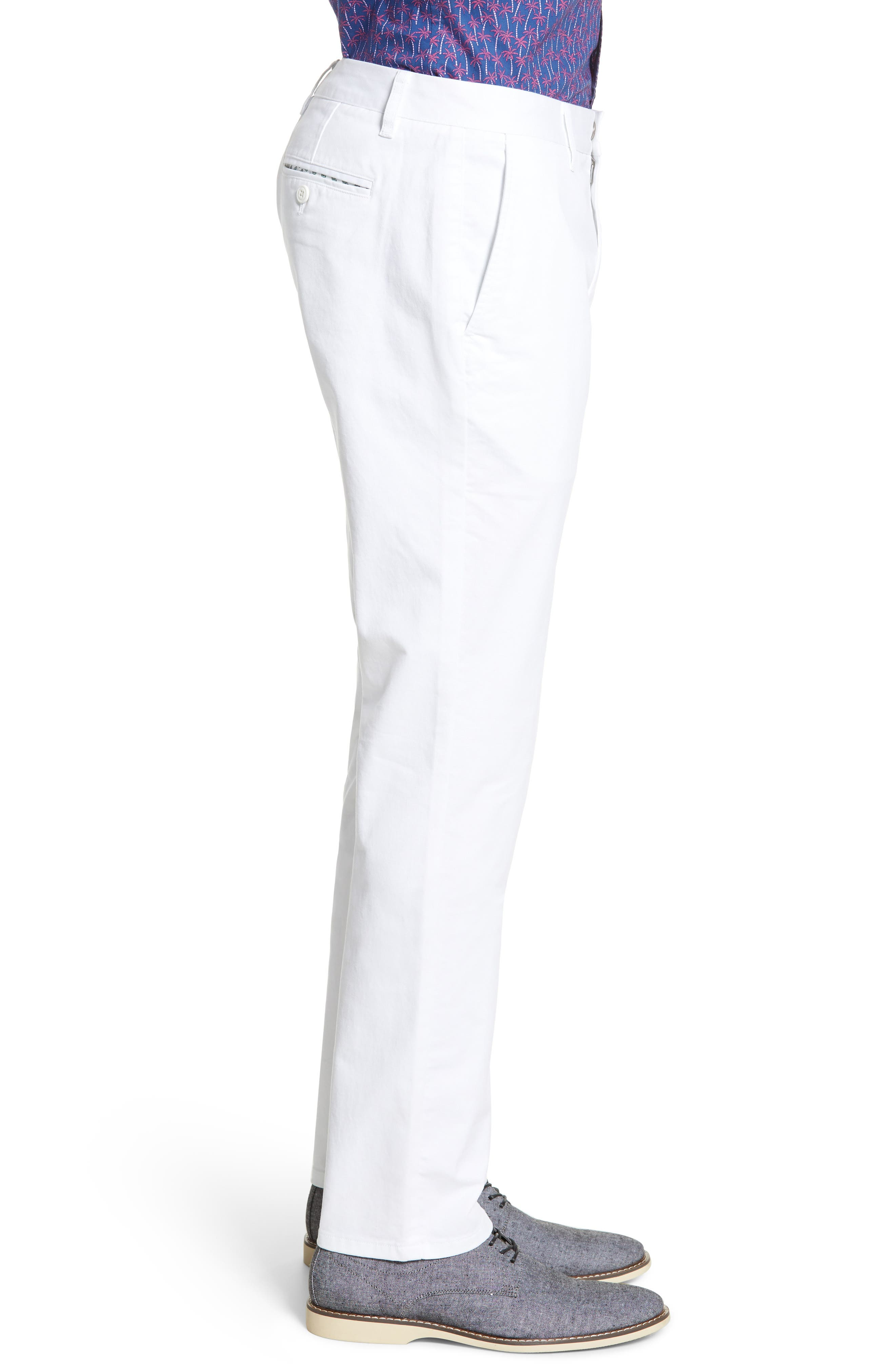 ,                             Slim Fit Stretch Washed Chinos,                             Alternate thumbnail 4, color,                             BRIGHT WHITE