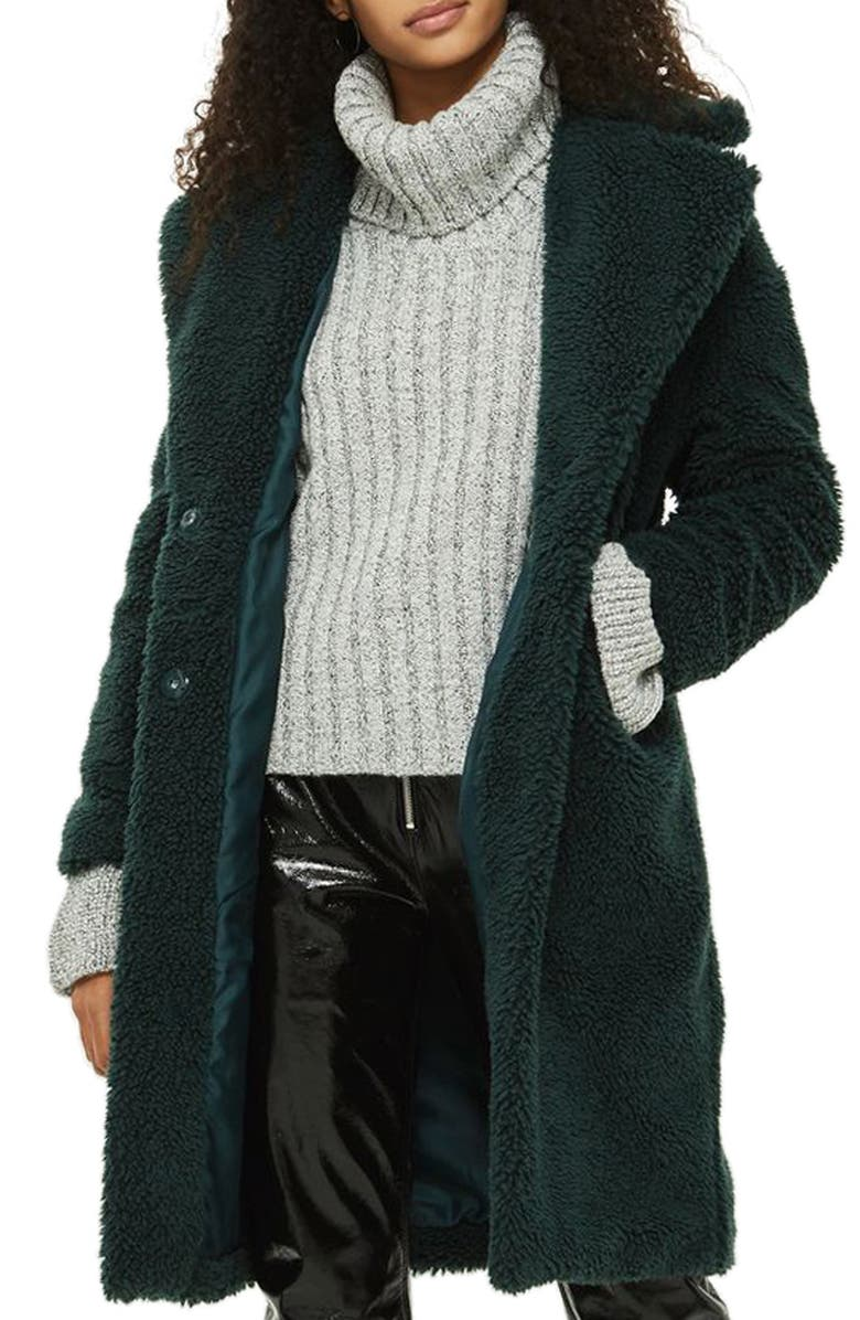 TOPSHOP Flare Cuff Turtleneck Sweater, Main, color, 020
