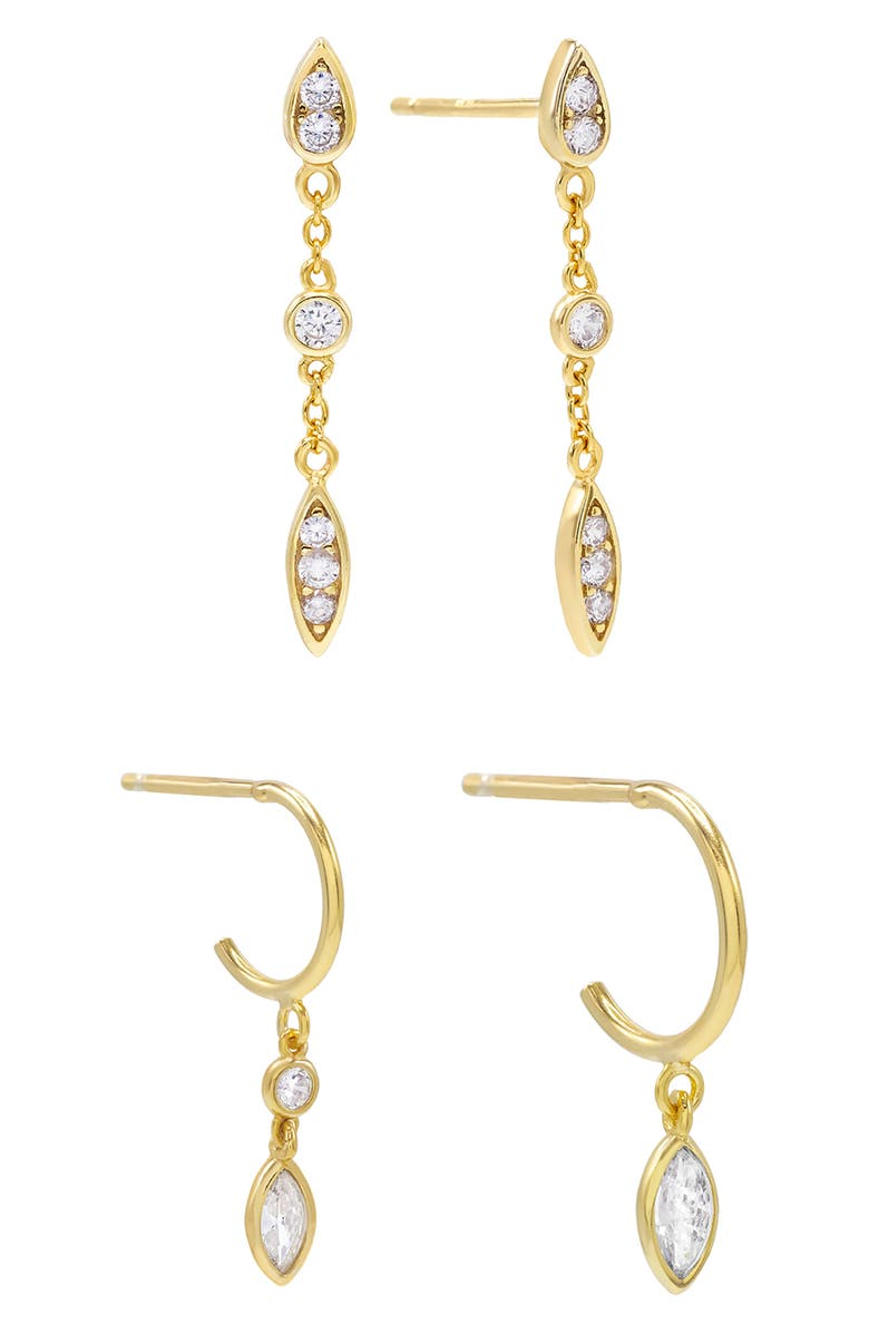 ADINA'S JEWELS Pack of 2 Teardrop Earring Pairs, Main, color, 710