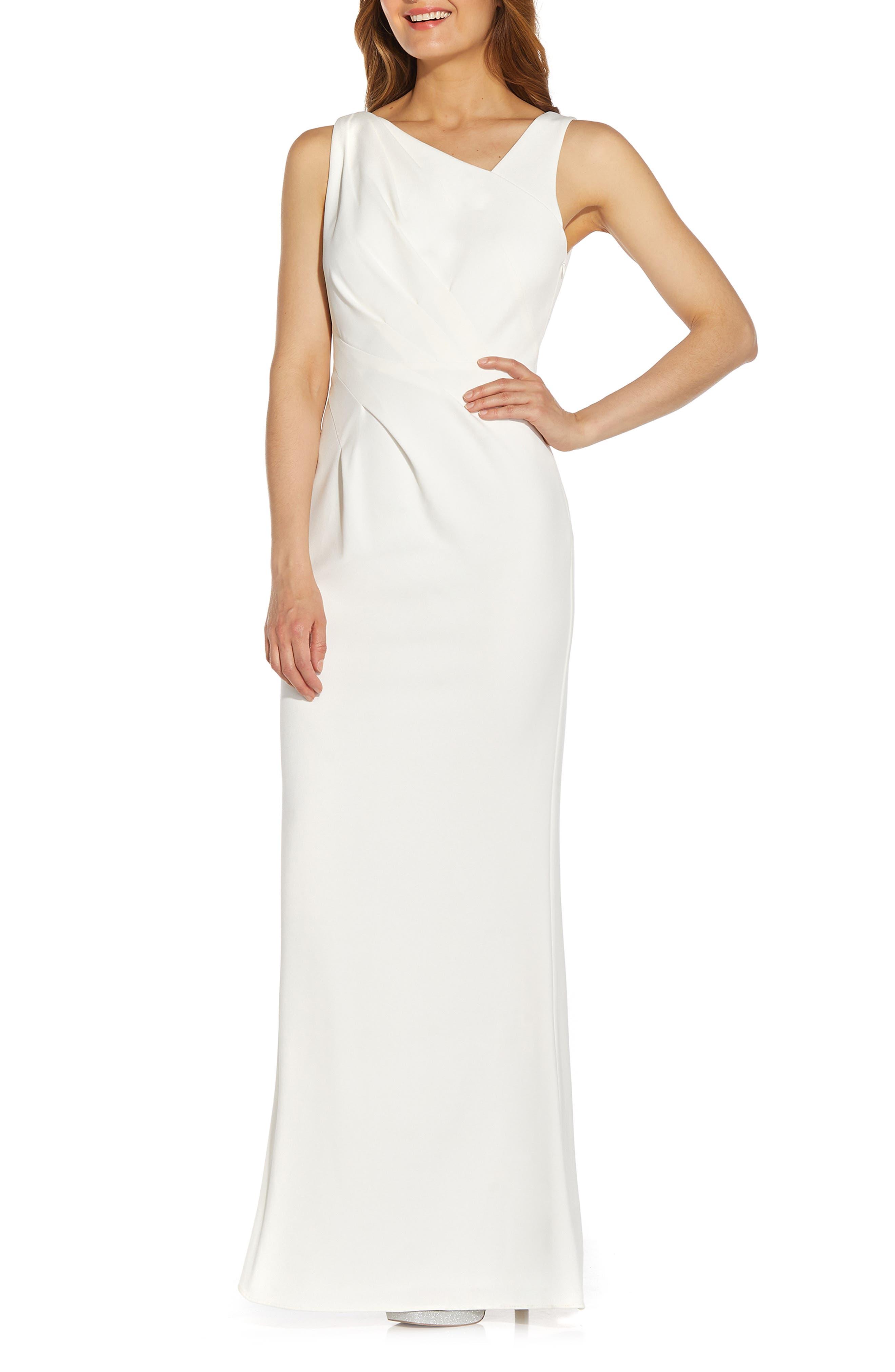 Embellished Crepe Evening Gown