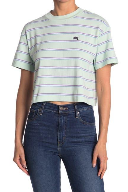 Image of Obey Ernie Stripe Crop Top