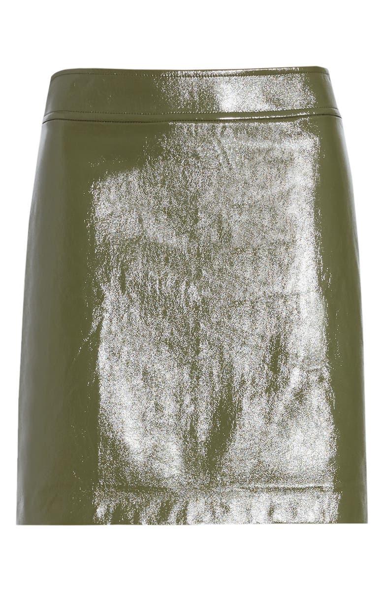 LEITH Faux Patent Miniskirt, Main, color, 301