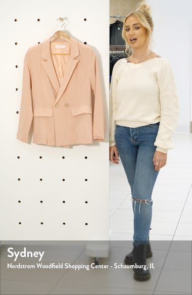Double Breasted Linen Blend Jacket, sales video thumbnail