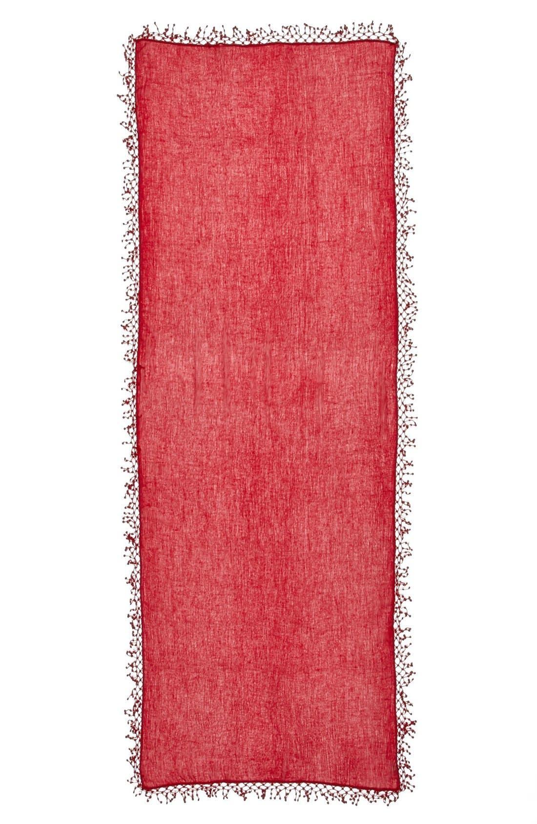 ,                             'Pompom' Cashmere Wrap,                             Alternate thumbnail 23, color,                             601