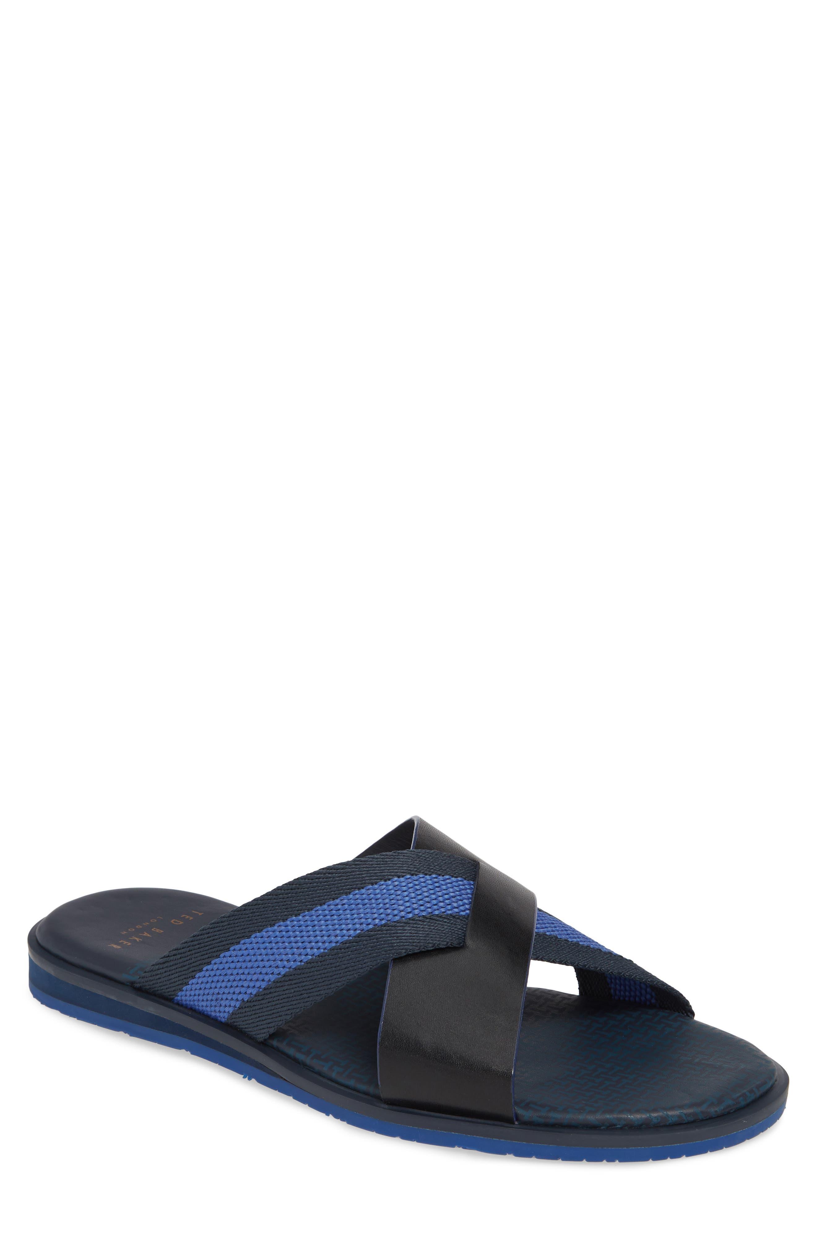 Ted Baker London Bowdus Slide Sandal, Blue