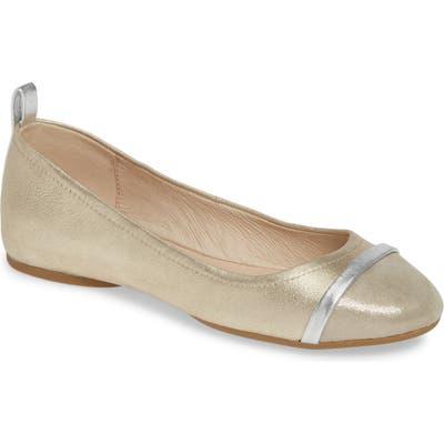 Pelle Moda Willis Cap Toe Flat- Metallic