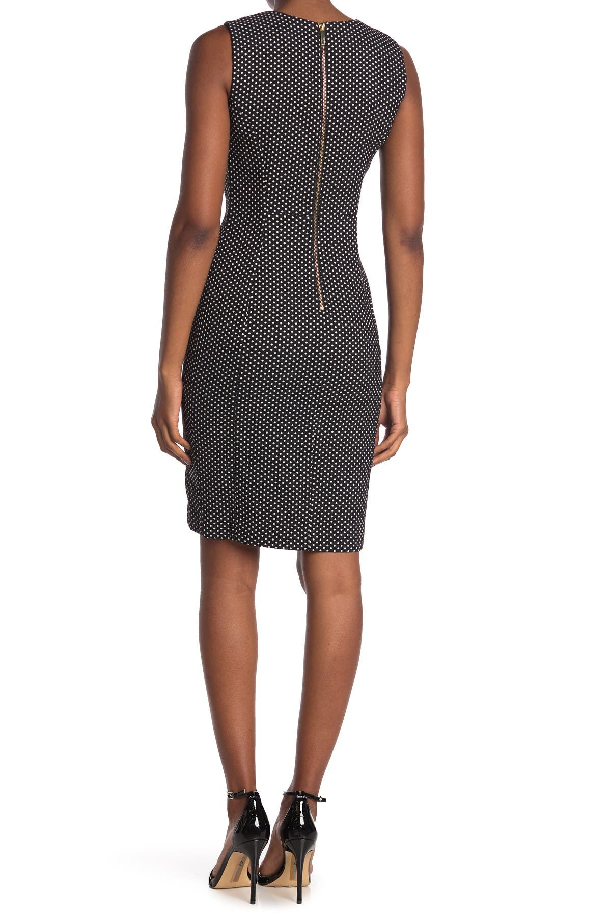 Image of Calvin Klein Dot Sheath Dress