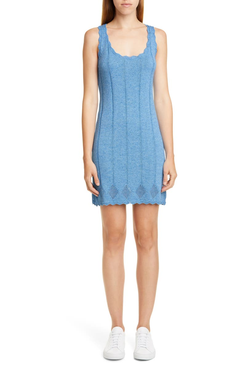 VICTOR GLEMAUD Ribbed Sweater Minidress, Main, color, 400