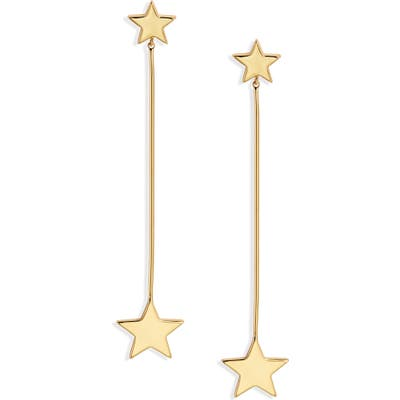 Stella + Ruby Linear Star Earrings