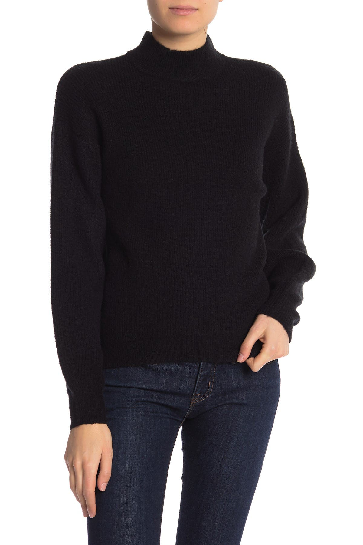 Image of Free Press Mock Neck Pullover Sweater