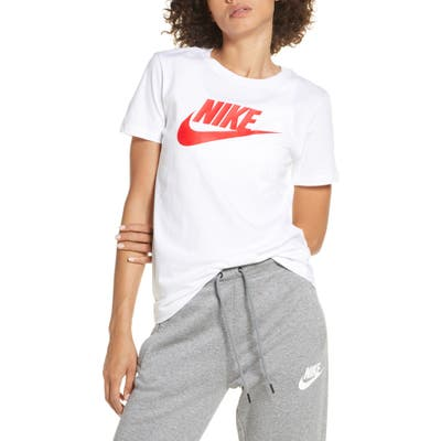 Nike Icon Futura Logo Graphic Cotton Tee, White