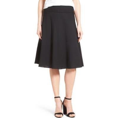 Petite Nic+Zoe Summer Fling Linen Blend Skirt, Black