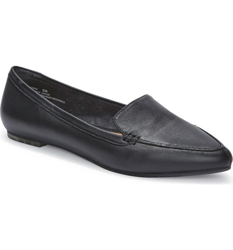 ME TOO Audra Loafer Flat, Main, color, BLACK/ BLACK LEATHER