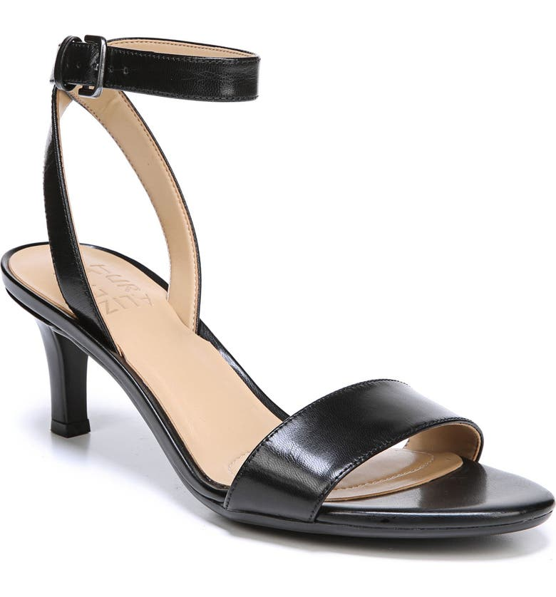 NATURALIZER Tinda Sandal, Main, color, BLACK LEATHER