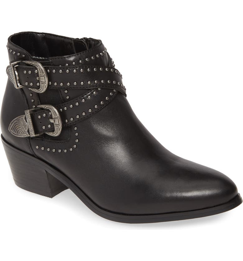 DAVID TATE Senator Bootie, Main, color, BLACK LEATHER