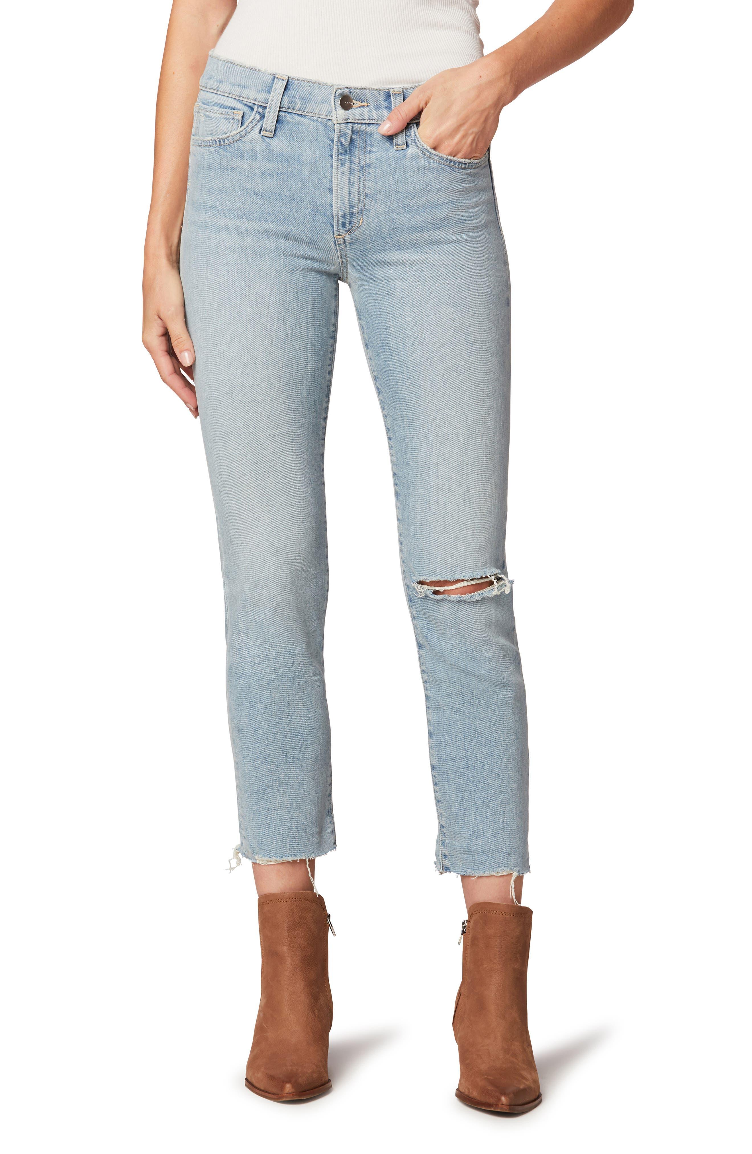The Lara Crop Straight Leg Jeans