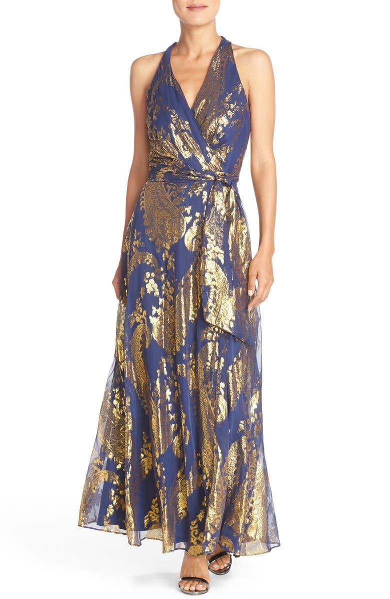 e7d95253709eb Metallic Jacquard Maxi Dress