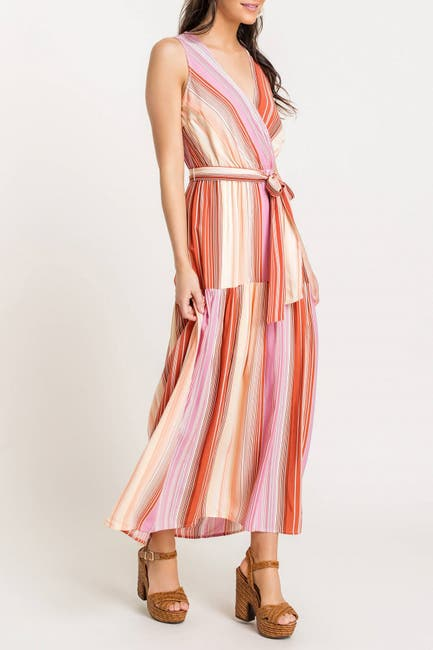 Image of Lush Tie Front Printed Maxi Dress