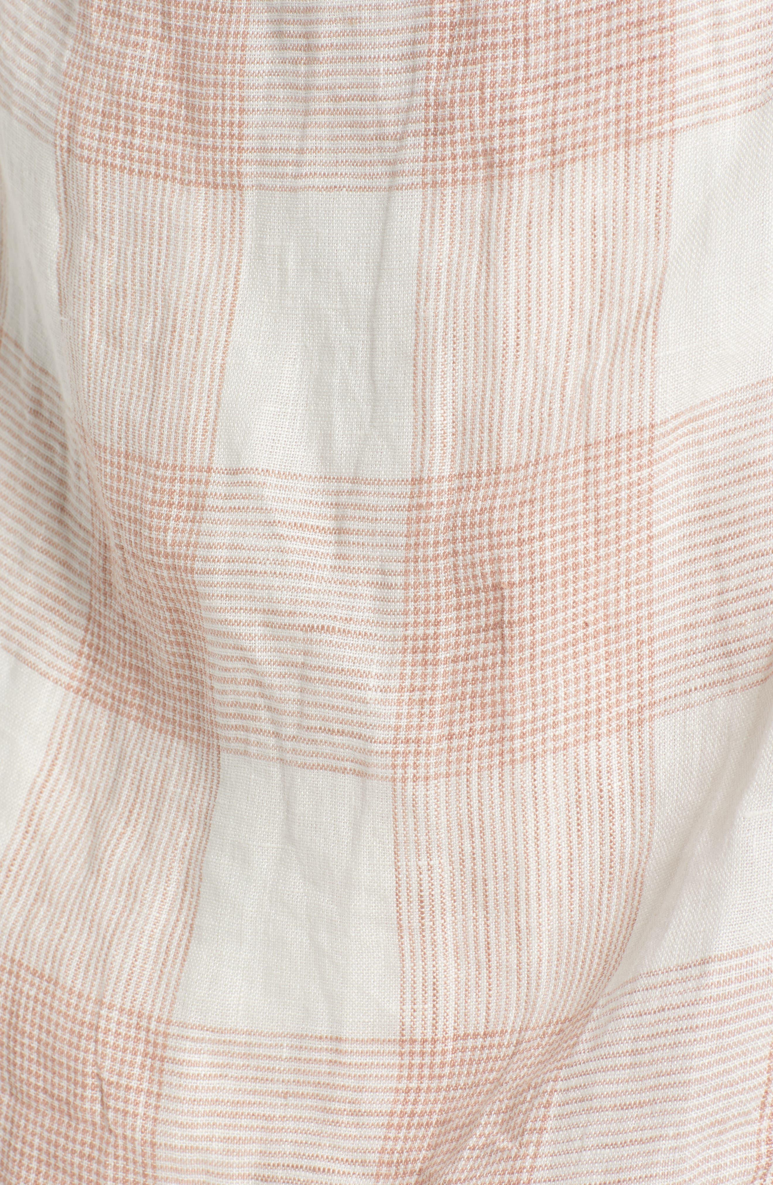 ,                             Whyatt Check Wrap Dress,                             Alternate thumbnail 6, color,                             CHECK