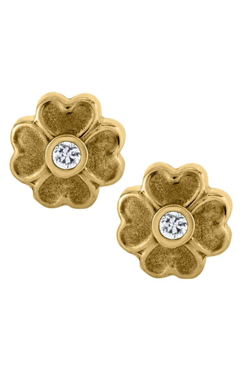 MIGNONETTE 14k Gold Flower Earrings, Main, color, GOLD
