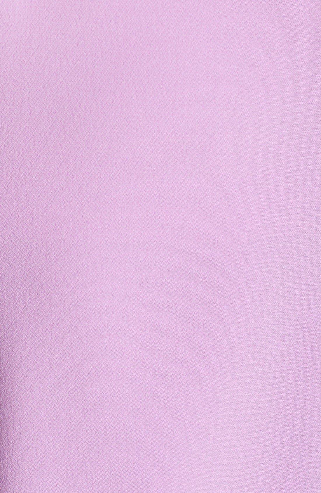 ,                             Illusion Yoke Crepe Sheath Dress,                             Alternate thumbnail 35, color,                             440