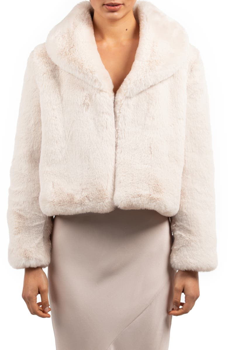 BÜBISH Milan Faux Fur Jacket, Main, color, IVORY
