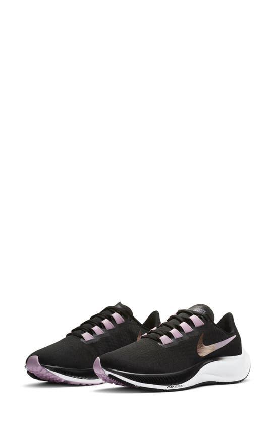 Nike Air Zoom Pegasus 37 Women's Running Shoe In Black/ Pink/ White/ Red Bronze