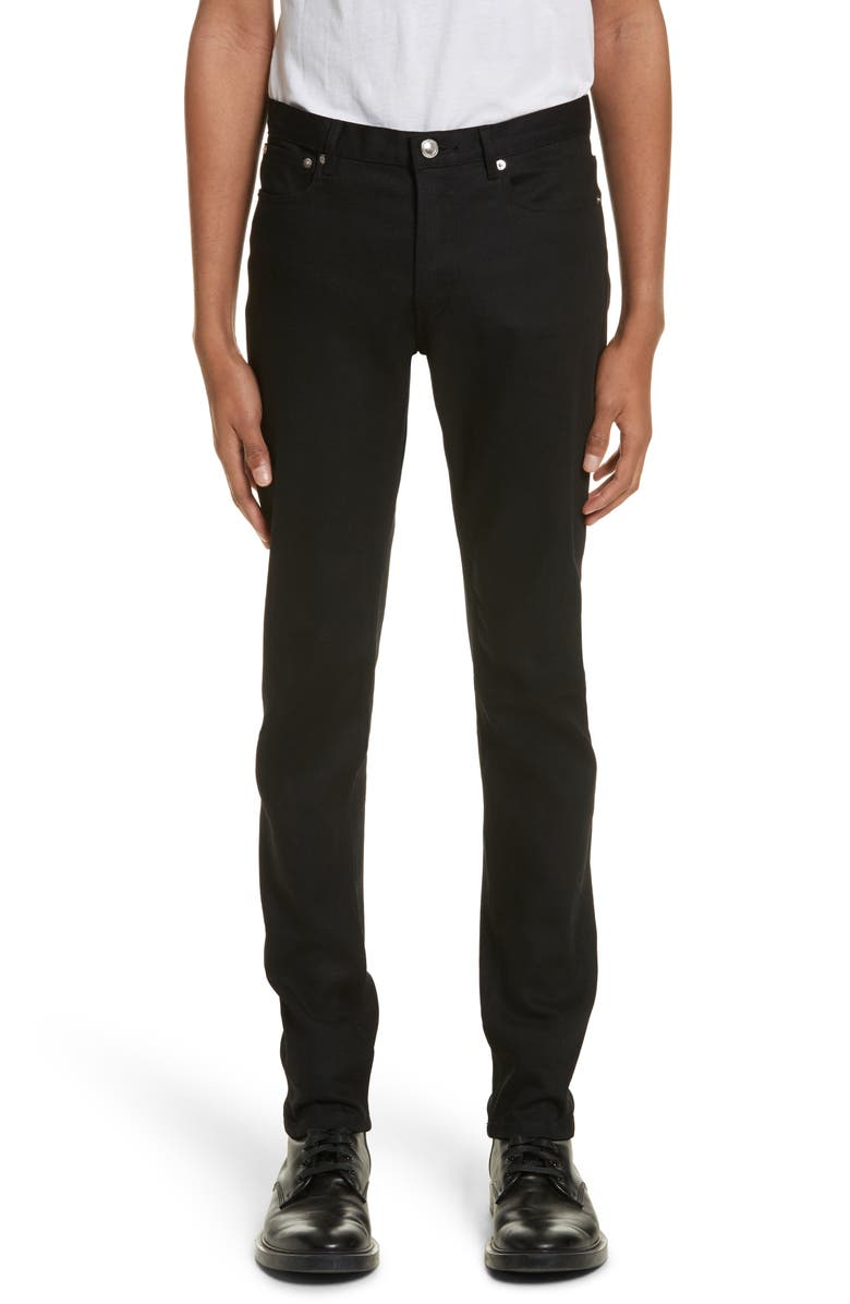A.P.C. Petit New Standard Stretch Skinny Fit Jeans, Main, color, BLACK