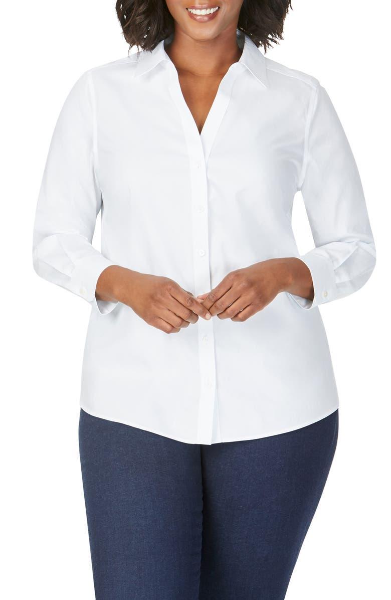 FOXCROFT Chrissy Non-Iron Shirt, Main, color, WHITE