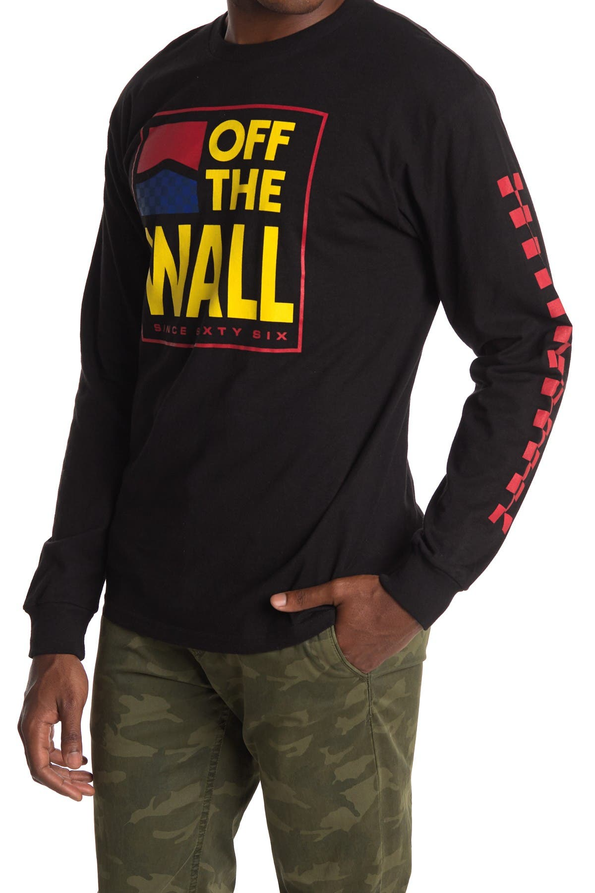 Image of VANS Off The Wall Logo Long Sleeve T-Shirt