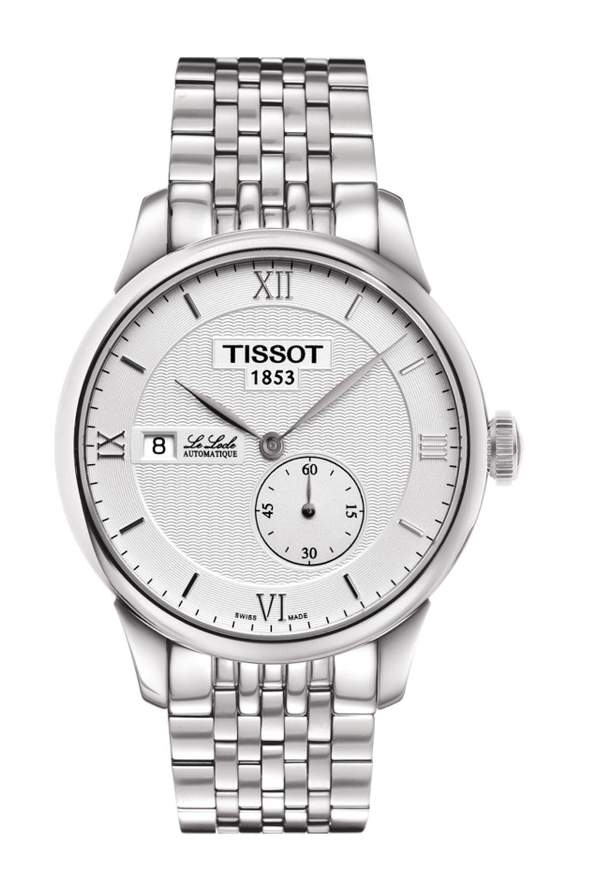 Image of Tissot Men's Le Locle Automatic Petite Seconde Bracelet Watch, 39.3mm
