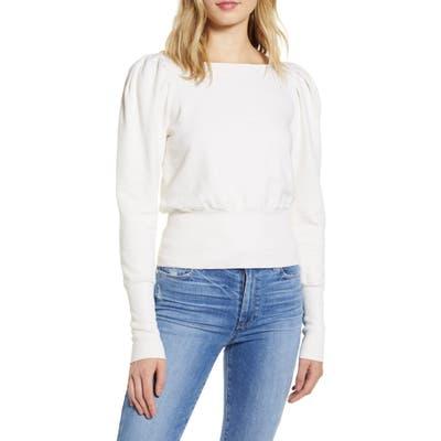 Ag Walker Puff Shoulder Sweatshirt, Ivory