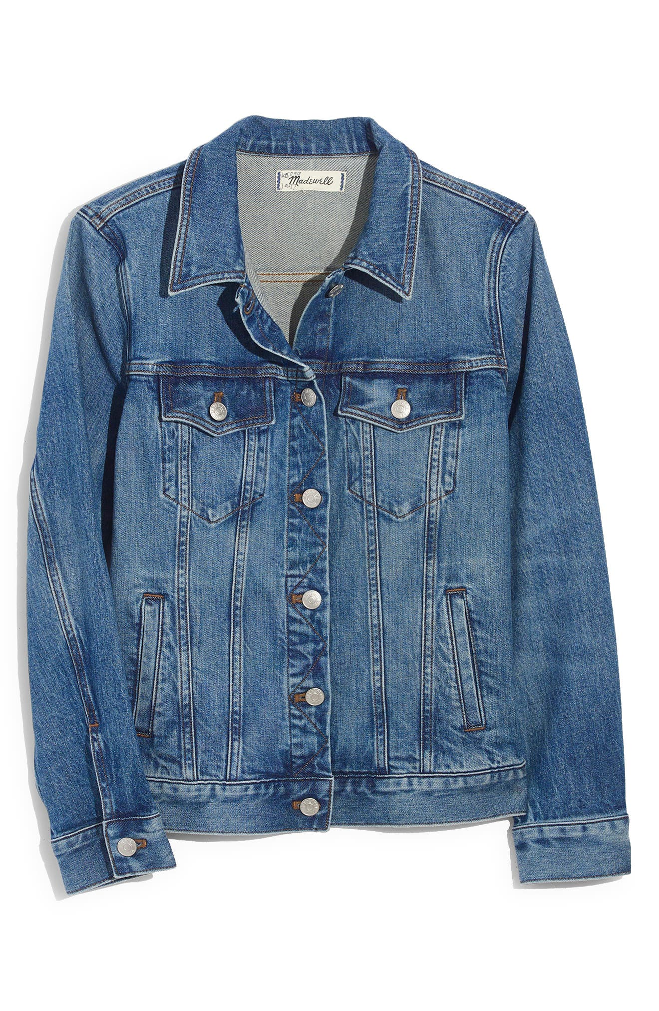 ,                             Eco Edition Stretch Denim Jacket,                             Alternate thumbnail 4, color,                             HOBSON WASH