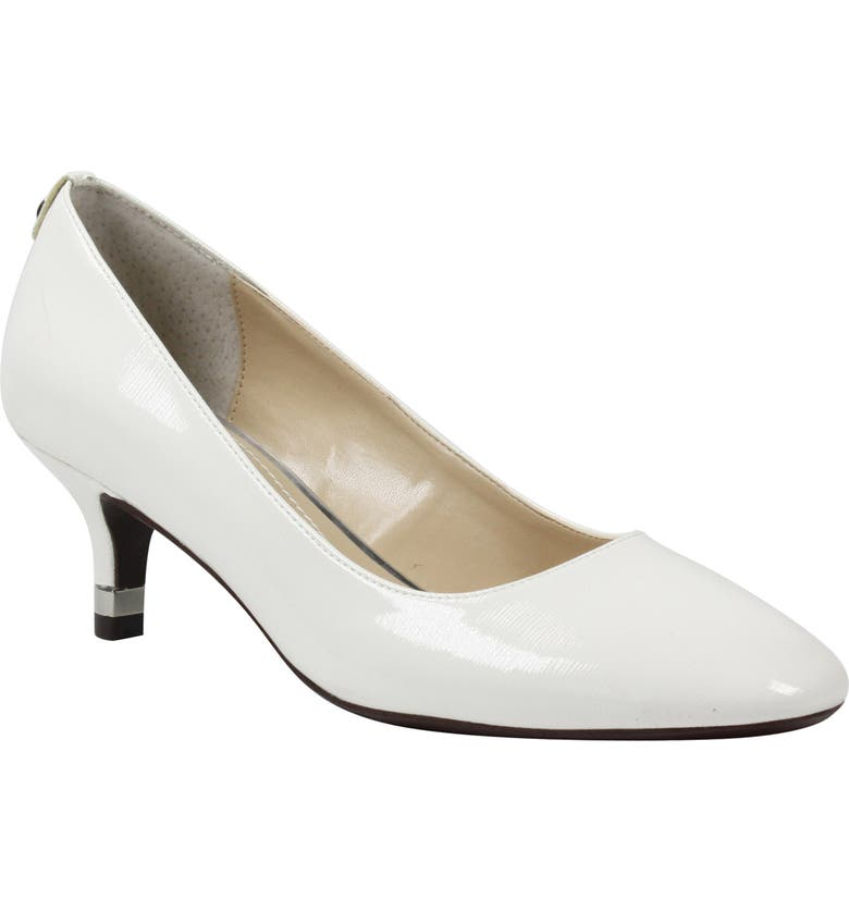 J. RENEÉ Bettz Pump, Main, color, WHITE FAUX PATENT LEATHER