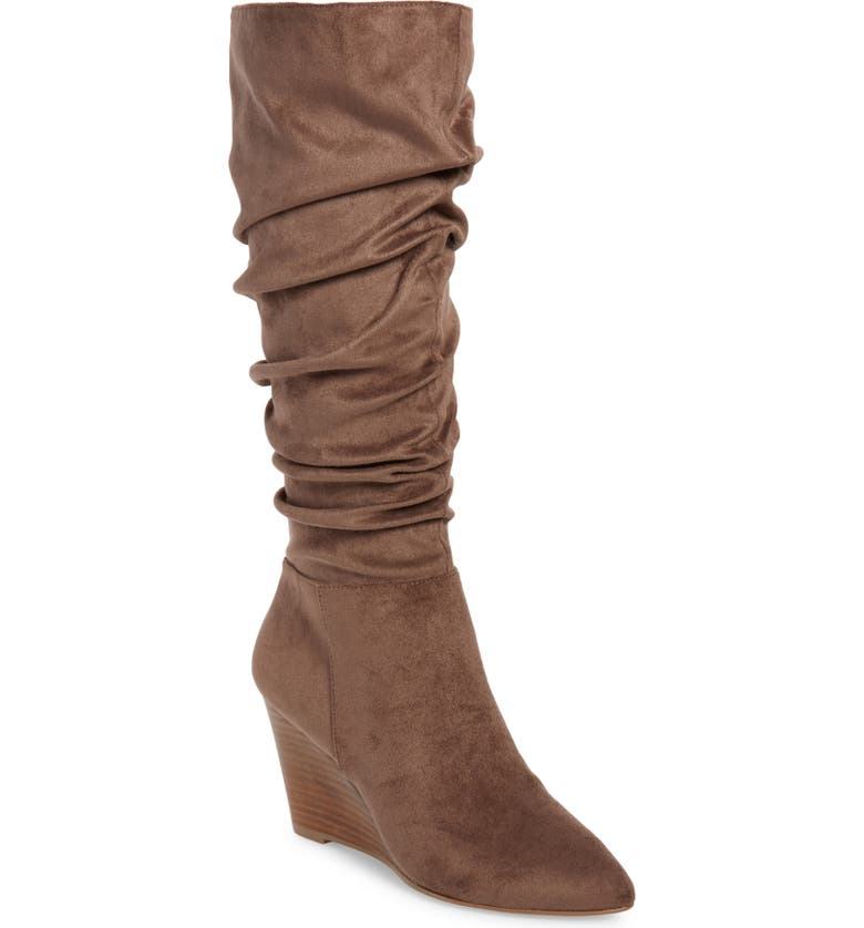 CHARLES BY CHARLES DAVID Expose Wedge Boot, Main, color, DK TAUPE