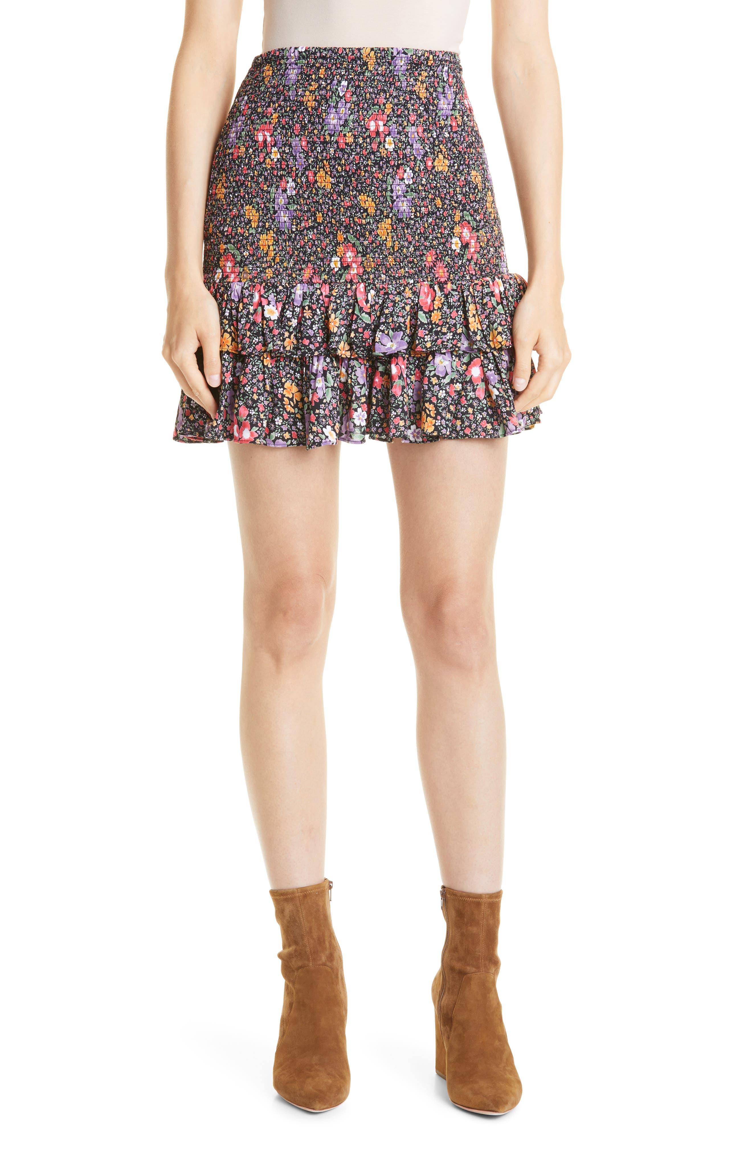 Floral Smocked Skirt