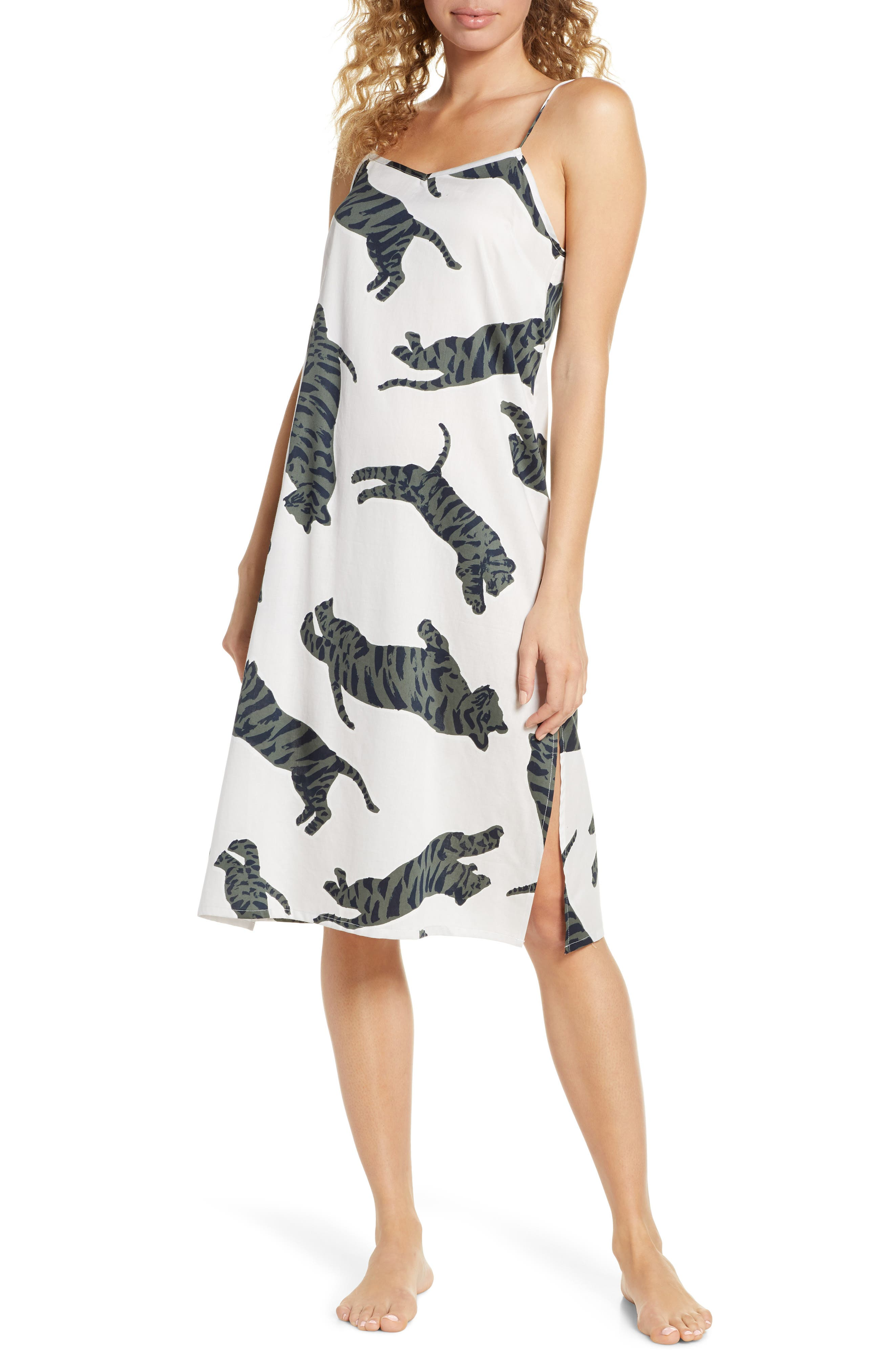 Chalmers Jess Tiger Moon Nightgown, Grey